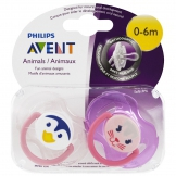 Philips Avent, Soft & Silicone Orthodontic Pacifier, 0-6 Months,